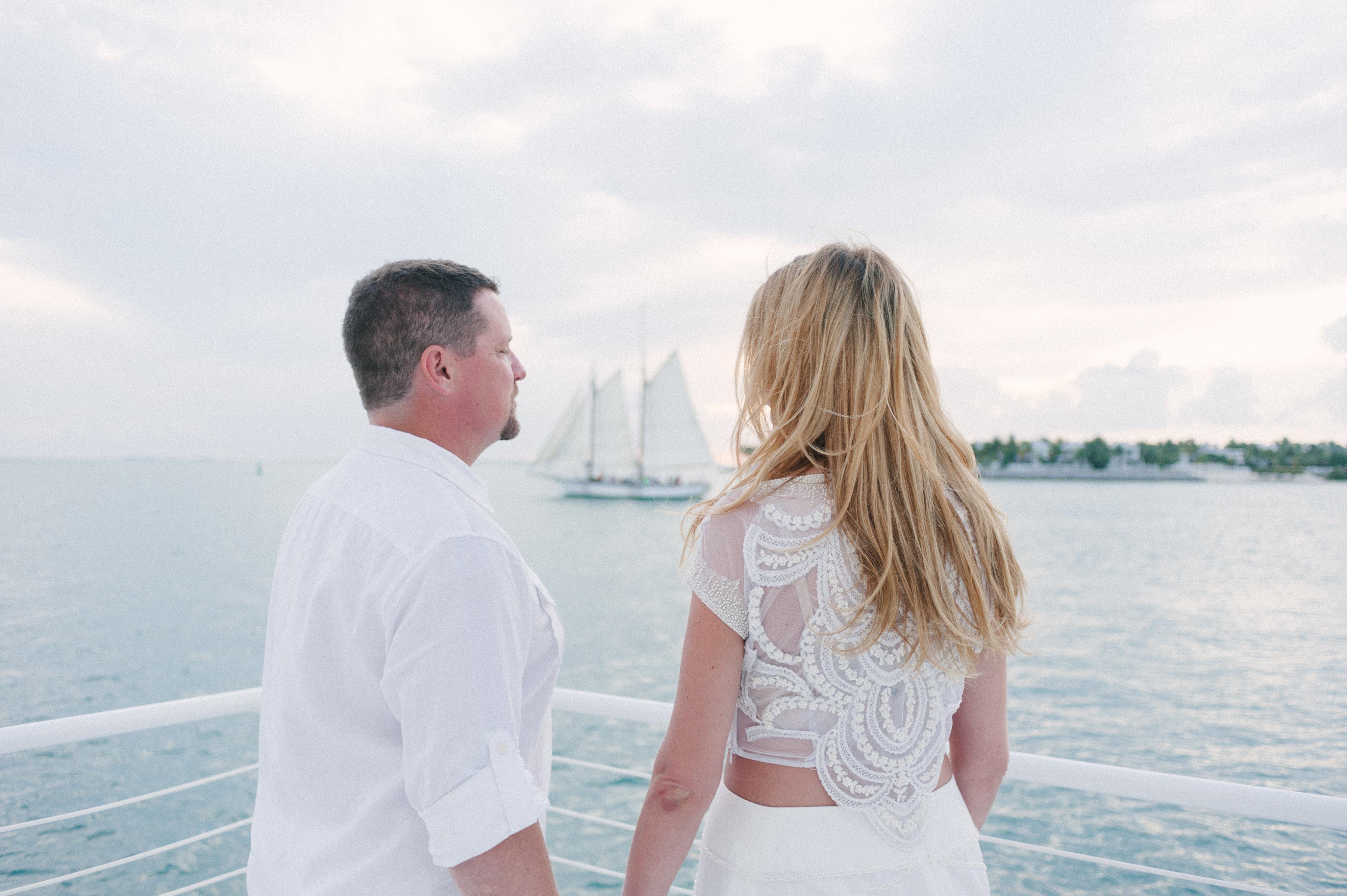 boho wedding at sea