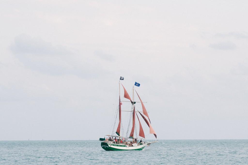 Seaside Sequins Wedding Boat