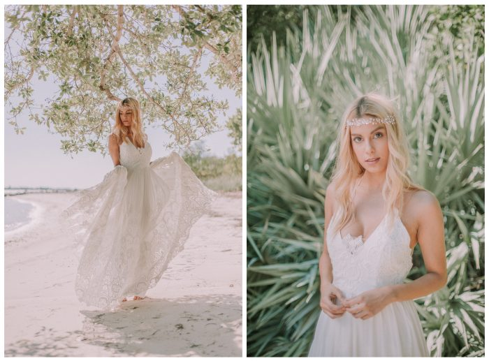 bridal gown shoot diptych