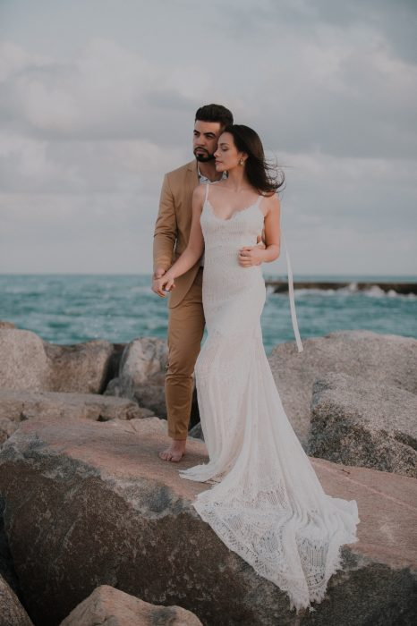 Michelle Bryant Bridal Beach Wedding