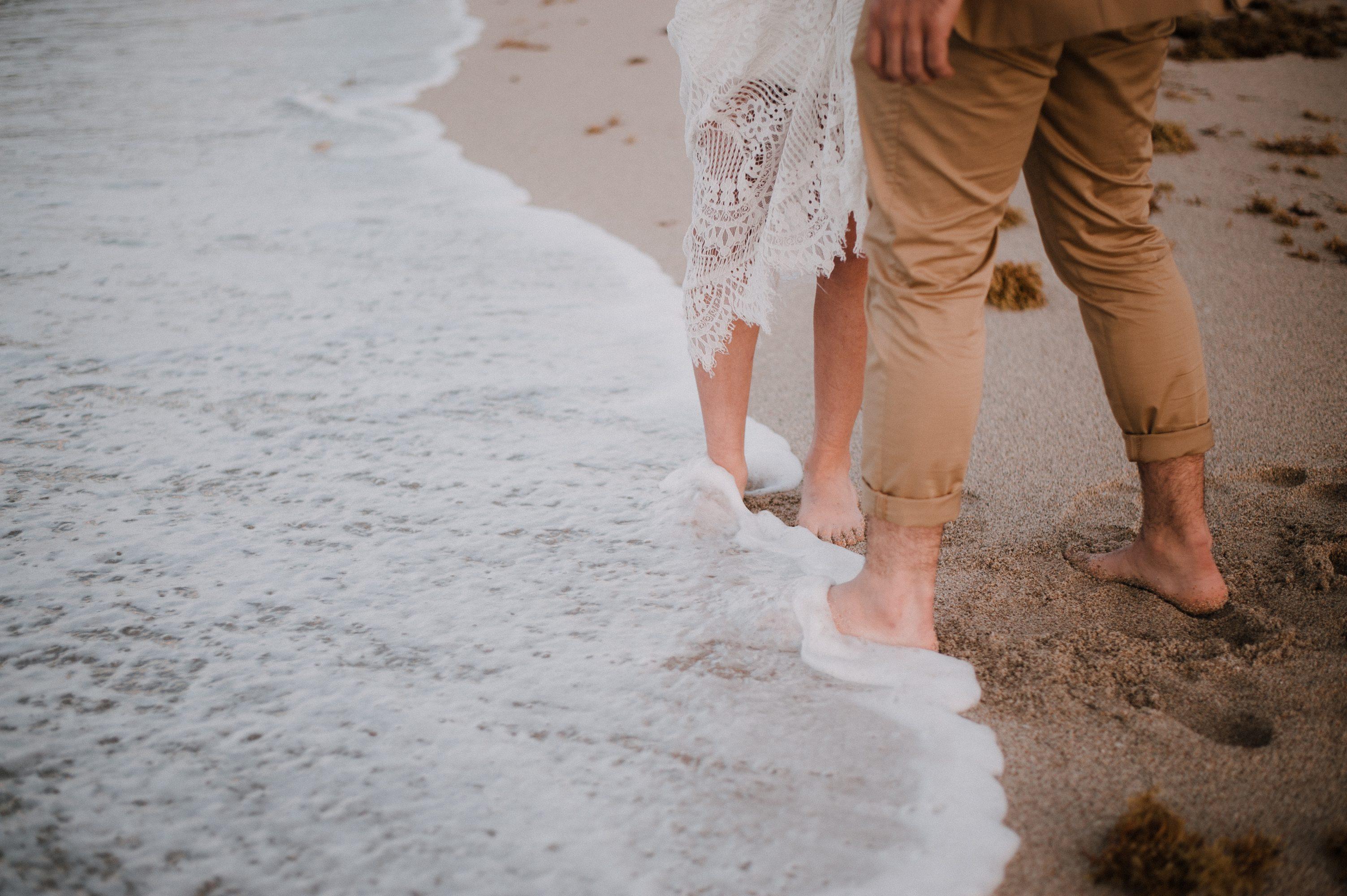 Michelle Bryant Bridal Beach Wedding