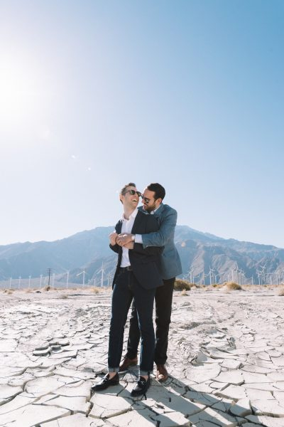 Same Sex Engagement Photography in Palm Springs
